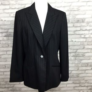NWT Ann Taylor Vintage Pinstripe Long Jacket sz 12